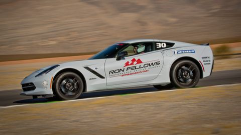 IMS president Doug Boles takes his turn behind the wheel.