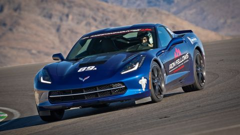 Carter Boles, 16, shows off high-performance driving skills as part of a day of classroom and on-track training.