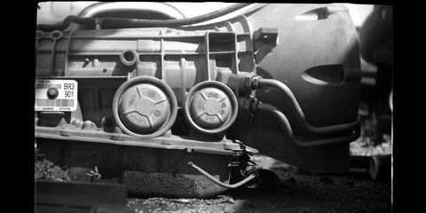 With a Kodak #6 Portrait Attachment on the 1919 Gauthier camera, it becomes possible to shoot close-up photographs with vintage equipment in wrecking yards.