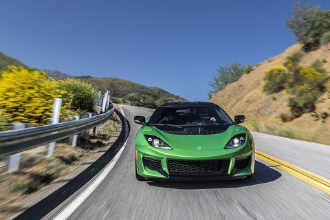 Comprehensive carbon fiber components come standard on U.S. spec cars