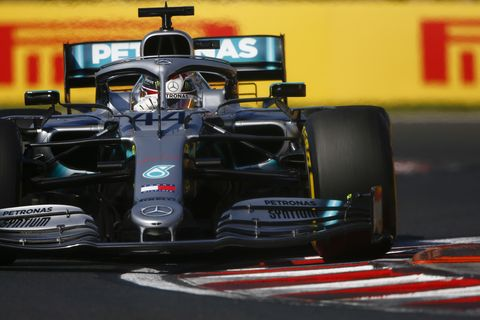 Sights from the F1 action at the Hungarian Grand Prix, Sunday August 4, 2019