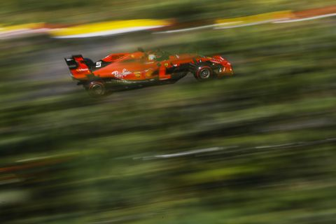 Sights from the action ahead of the F1 Belgium Grand Prix Saturday August 31, 2019