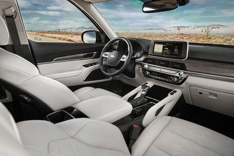 The 2020 Kia Telluride comes in LX, S, EX and SX trims.