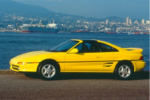 The second-generation Toyota MR2 ran from 1989-1999.