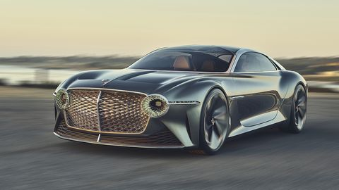 Bentley's futuristic grand tourer made an appearance at Pebble Beach, The Quail and other locales during Monterey Car Week.