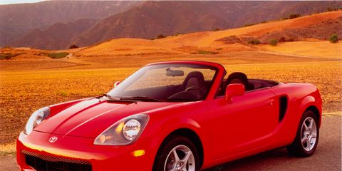 The third-generation of Toyota MR2 ran from 1999-2007.