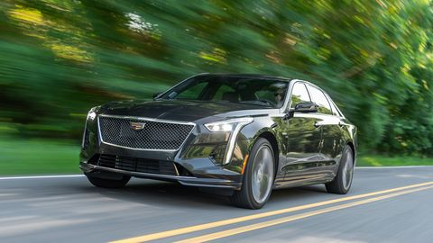 The 2020 Cadillac CT6-V comes with the company's new Blackwing engine delivering 550 hp.