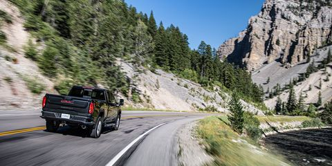The 2020 GMC Sierra HD Denali <span><span>delivers standard luxury like heater and ventilated seats and standard tech like the Driver Alert package (park assist, cross traffic alert, lane change alert, lane departure warning and more).</span></span>