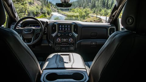 The 2020 GMC Sierra HD comes more loaded inside than most of its competitors.