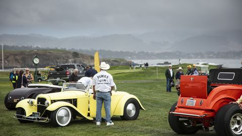 """The entry list for this year's hot rod class was stacked with historically significant and extremely diverse entries. Ranging from Jim Govro's """"Tweety Bird,"""" to Bruce Meyer's """"Nickel Car."""""""