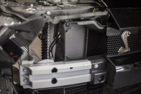 The various heat exchangers in the 2020 Ford Mustang Shelby GT500