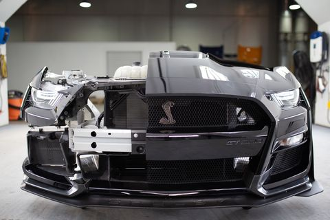 Thevarious heat exchangers in the 2020 Ford Mustang Shelby GT500
