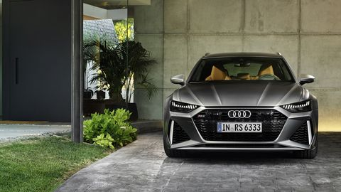 The Audi RS6 Avants gets a 4.0-liter twin-turbo V8 making 591 hp.