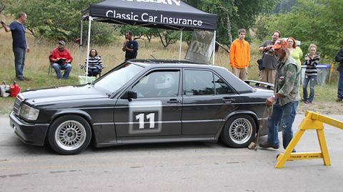 Adam Pickworth is entered in this 1985 Mercedes-Benz 190E 16V. 
