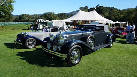 The winning 1931 Stutz DV 32 Convertible Victoria by Le Baron