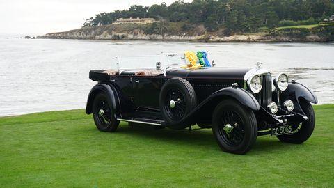The winning Bentley in repose