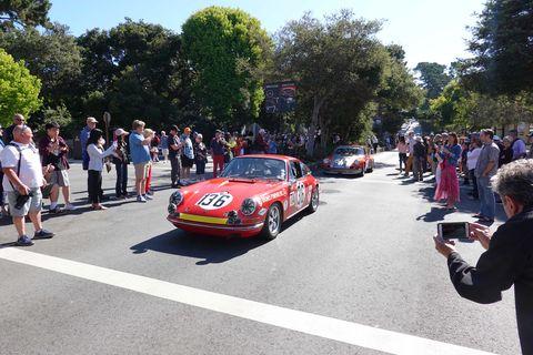Porsches are popular at Carmel