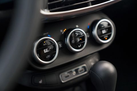 The interior of the 2019 Fiat 500X