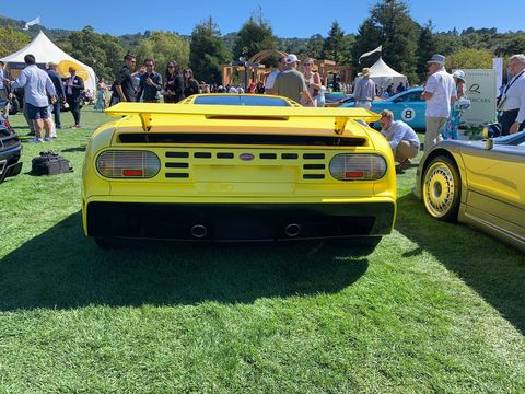 The Bugatti EB110 served as inspiration for the CentoDieci, both in name and design