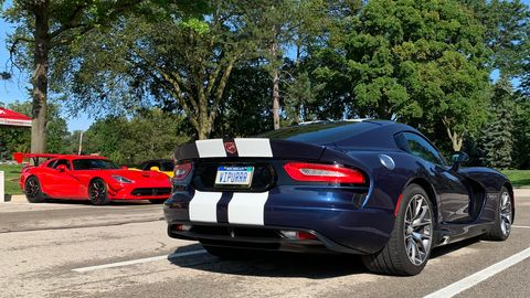 The Motor City Vipers Owners club was out at the Woodward Dream Cruise before breakfast.