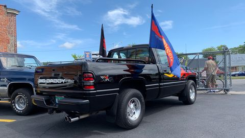 Spotted this 1995 Dodge Ram Big Daddy Don Garlits limited edition parked just off Woodward Avenueduring the Dream Cruise. No.55 of 180.