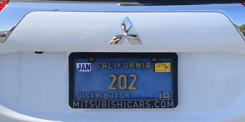 This plate once lived on a Tredia, Cordia, Starion or Mighty Max, way back in 1982 Southern California.