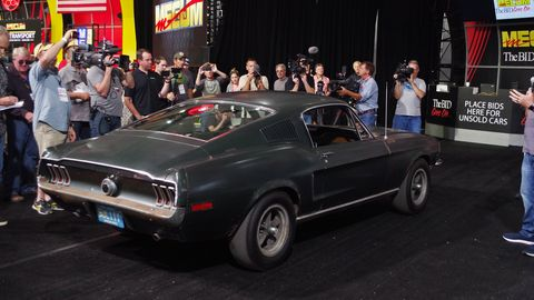 """The 1968 Ford Mustang GT from the film """"Bullitt"""" will cross the auction block at Mecum's Kissimmee sale."""