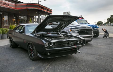 Built for the 2016 SEMA show, the evil-looking Shakedown started out as a 1971 Dodge Challenger. It's been reinvented as a thoroughly modernized, 392 V8-powered street machine.