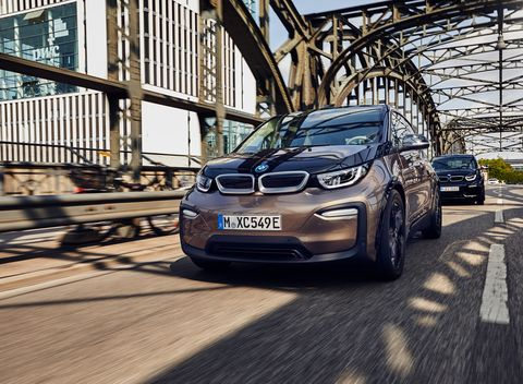 Exterior of the 2019 BMW i3 Sport.