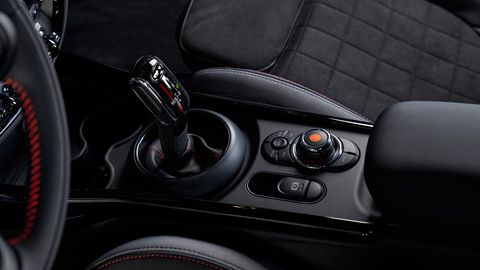 The 2020 Mini Clubman JCW comes with British flag accents inside and out.
