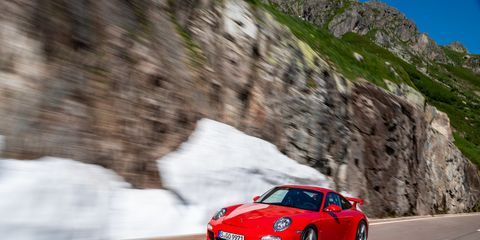 The 2010 model year Porsche 911 GT3saw the first engine size increase in the series, now 3.8-liters and peak output followed suit to 429 horsepower. The bigger motor also revved up to 8,500 rpm. You also saw center-locking wheels and a front-axle-lift system