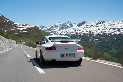 The first Porsche 911 GT3 to come to the U.S. retained 3.6-liter of displacement, but with a 20 horsepower bump to 375. Compared to the 1999 model, the rear wing was new, the tires wider, and the front brakes larger.
