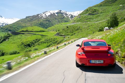 The first Porsche 911 GT3was sold in Europe only. It was dropped 1.2-inches compared to a standard 911 and included a 355 horsepower 3.6-liter flat-six engine.