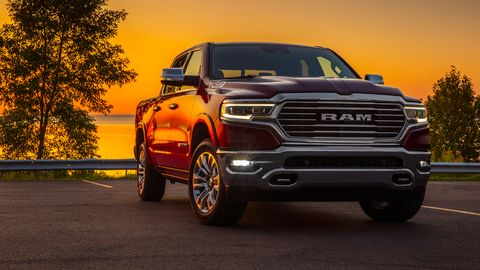 The 2020 Ram 1500 EcoDiesel Laramie Longhorn comes with a 3.0-liter diesel V6 making 260 hp and 480 lb-ft of torque.