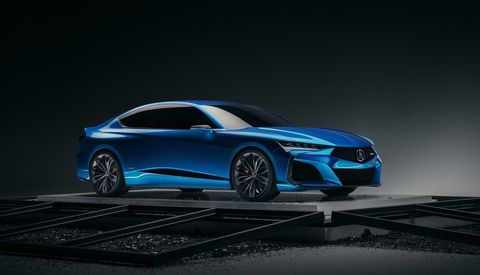 Acura Type S Concept portends the look of coming Type S cars, specifically the TLX