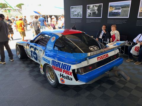 """A look at Tommy Kendall's """"Malibu Grand Prix"""" Mazda RX-7 in detail. It's the car that brought him his first win and first two championships"""