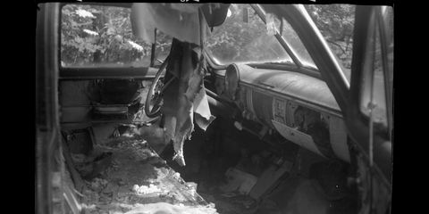 1951 Chevrolet photographed with 1919 Gauthier camera and Kodak T-Max 100 film.