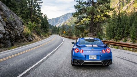 <span><span><span><span><span><span><span><span>In a world where the fastest cars have hybridized powertrains and electric power steering, the GT-R feels like something of a throwback. Cornering grip is savage, mechanical. Stir up its twin-turbo, 565 hp heart, handbuilt in a Japanese laboratory, and the car doesn't feel like it's running on pistons, just pure boost. </span></span></span></span></span></span></span></span>