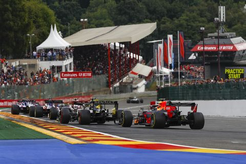 Sights from the F1 Belgium Grand Prix at Spa Sunday September 1, 2019