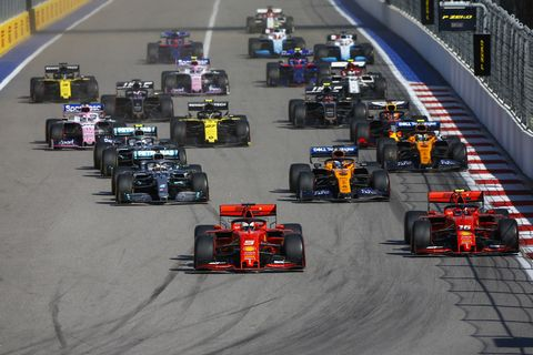 Sights from the F1 Russian Grand Prix Sunday Sept. 29, 2019