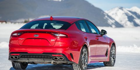 The 2019 Kia Stinger comes with a turbocharged 2.0-liter four making 255 hp.