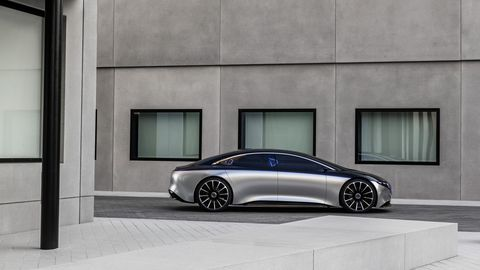 The Mercedes-Benz EQS show car debuted at the 2019 Frankfurt motor show and represents the future of Mercedes-Benz sedans.