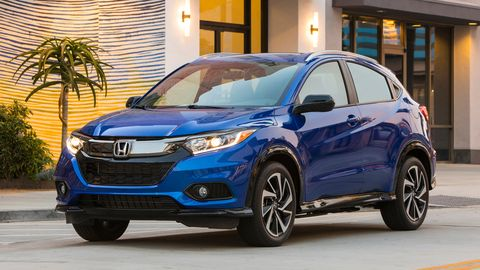 The 2019 Honda HR-V comes with a 1.8-liter four making 141 hp.