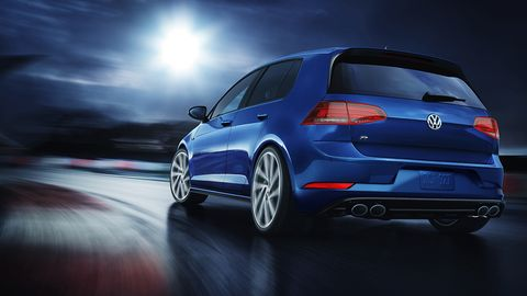 The 2019 Volkswagen Golf R comes with a turbocharged I4 making 288 hp.
