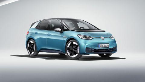 The ID.3 kicks off Volkswagen's range of electric cars.