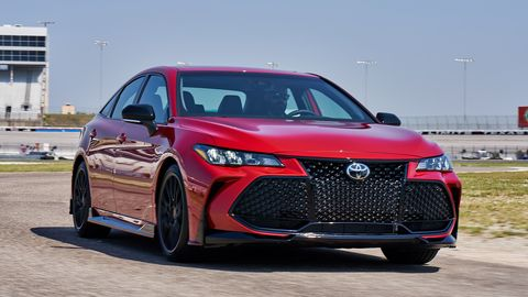 The 2020 Toyota Avalon TRD comes with better brakes, stiffer springs and more precise steering than the base model.