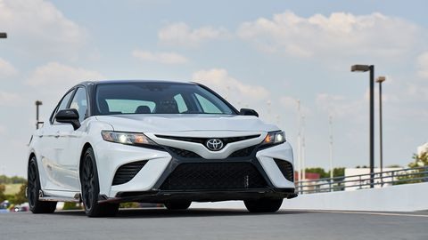 The 2020 Toyota Camry TRD gets a little extra performance along with its 301-hp V6.