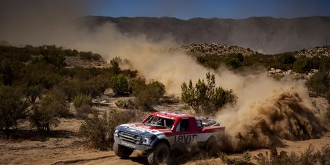 Ryan Arciero won the inaugural Baja 400 driving aNASCAR-powered Trophy Truck