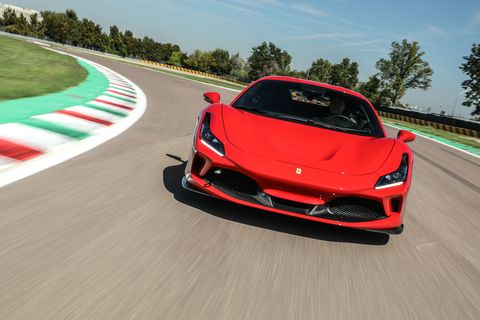 The F8 has a 3.9-liter twin-turbo V8