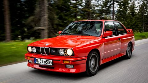 Compared to the entry-level E30 3-Series, the M3 -- introduced mid-1986 -- had a stiffer chassis, better suspension and more power from the its four-cylinder engine. It was a nimble car that later came to be known as a track-day bargain, but in recent years, it's become a high-dollar collector's item.